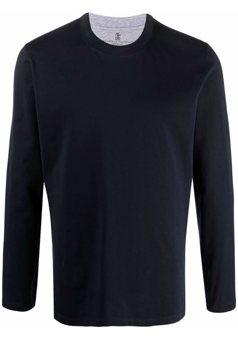 Blue t-shirt BRUNELLO CUCINELLI | M0T617433CD361