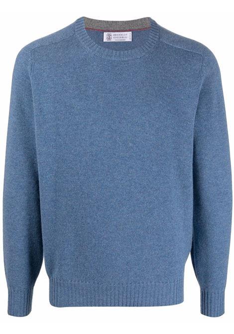 Blue jumper BRUNELLO CUCINELLI | M2279400CM644