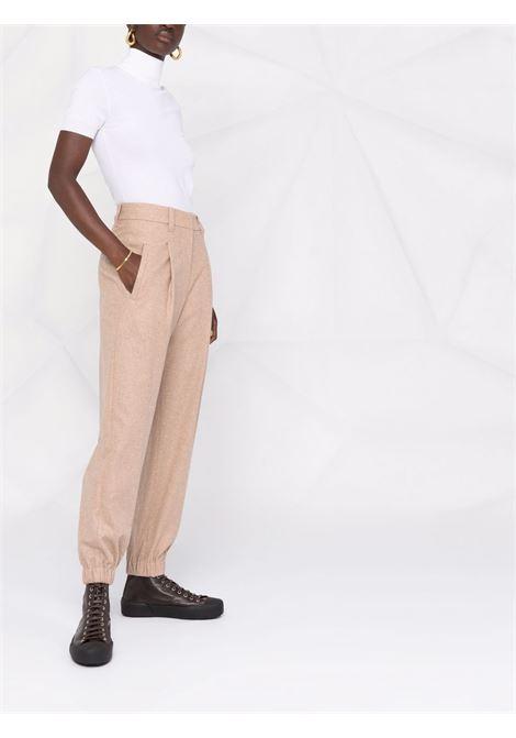 Pantalone marrone BRUNELLO CUCINELLI | PANTALONI | MD502P7776C1010