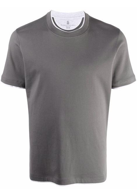 Grey t-shirt BRUNELLO CUCINELLI | MTS537427CM966