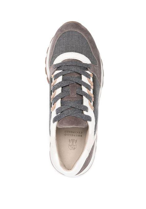 Sneakers grigio/bianco BRUNELLO CUCINELLI | SCARPE | MZSFG2004CF097