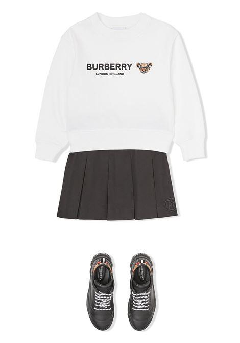 Felpa bianca BURBERRY KIDS | 8042941A1464