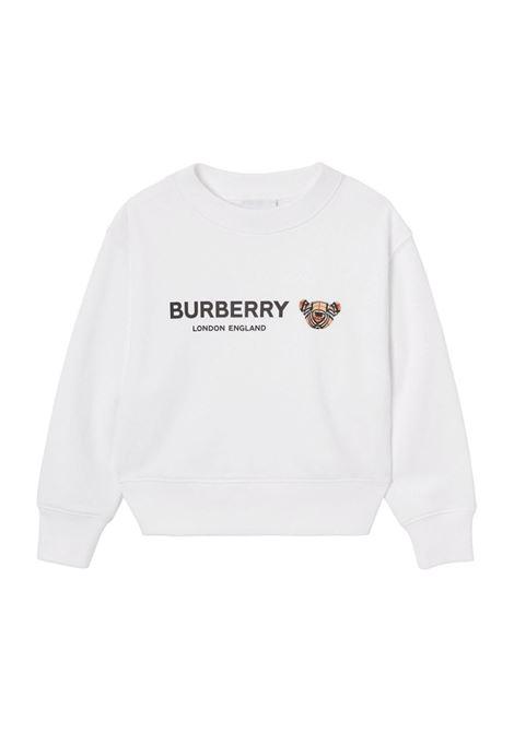 Felpa bianca BURBERRY KIDS | FELPE | 8042941A1464