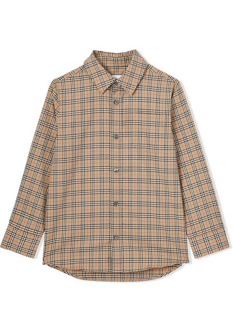 Camicia beige BURBERRY KIDS | 8042957A7028