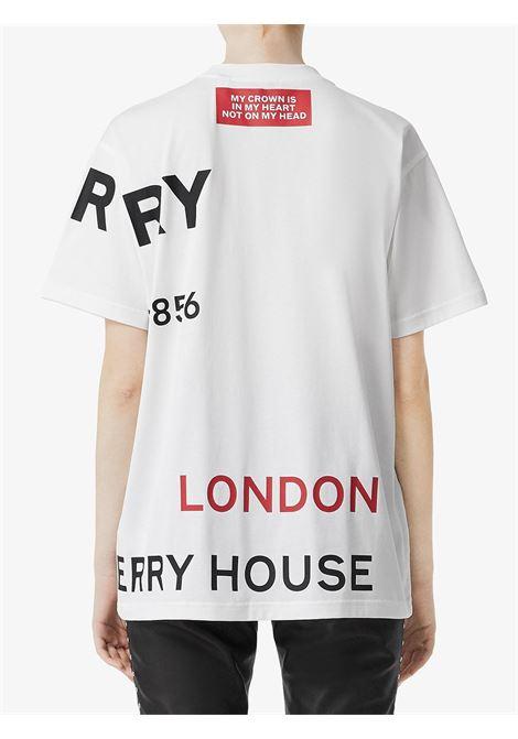T-shirt bianca BURBERRY | T-SHIRT | 8017103A1464