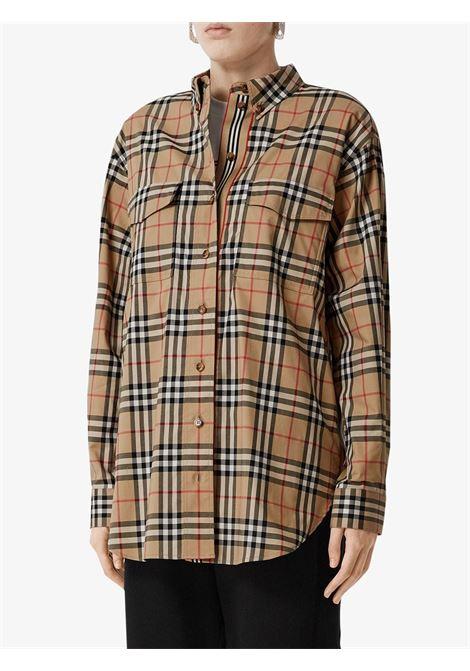 Camicia beige BURBERRY | CAMICIE | 8022285A7028