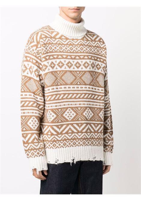Brown/white jumper CENERE MAGLIERIA | 621G3001000090