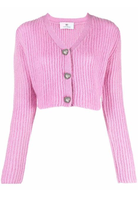 Pink cardigan CHIARA FERRAGNI | 71CBFM29CMN0071M56414