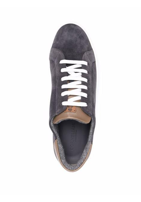 Grey/brown sneakers CORNELIANI | 88TM651820913015