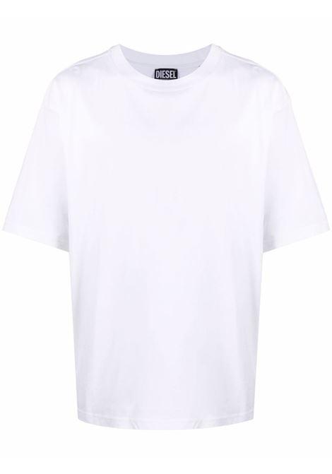White/black t-shirt DIESEL | A032950CATM100