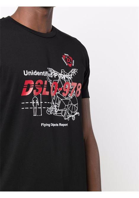 T-shirt nera DIESEL | A033780PATI9XX