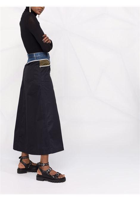 Black/denim skirt DIESEL | A048550GCAJ9XX