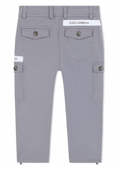 Pantalone grigio/blu DOLCE & GABBANA KIDS   L43P70G7BCGN2878