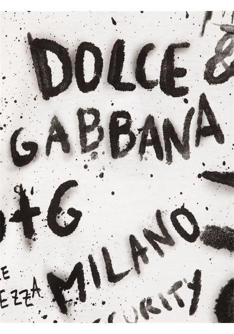 T-shirt bianca DOLCE & GABBANA KIDS   L4JT8AG7BJSW0800