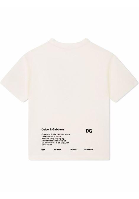 T-shirt bianca DOLCE & GABBANA KIDS   L4JTDMG7A8GHA3BN