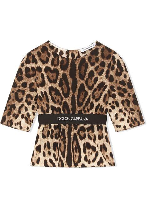 Maglia leopardata DOLCE & GABBANA KIDS | L55S41G7BIJHY13M