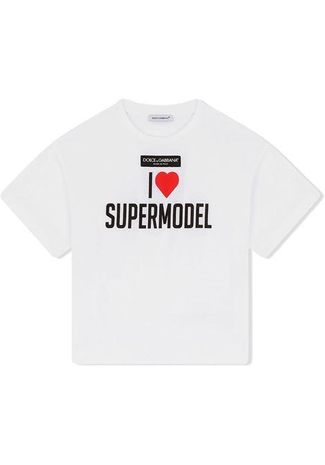 T-shirt bianca DOLCE & GABBANA KIDS | L5JTHMG7BHCHW3FP