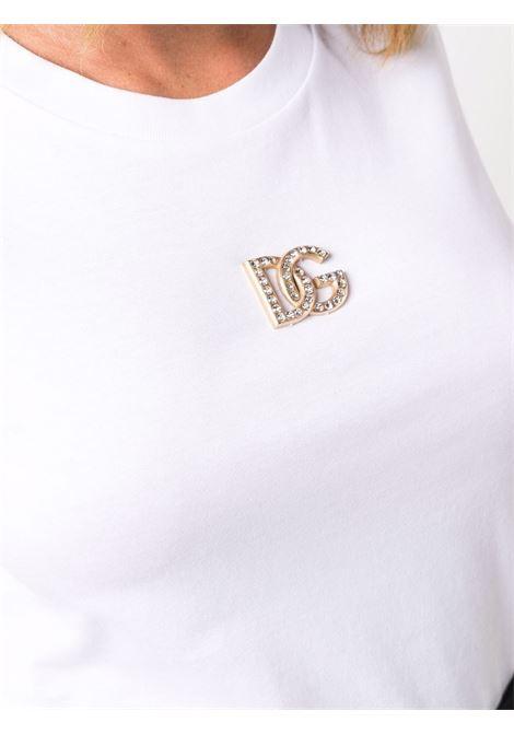 T-shirt bianca DOLCE & GABBANA | F8M68ZG7BFDW0800