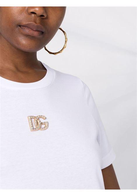 T-shirt bianca DOLCE & GABBANA   T-SHIRT   F8M68ZG7BFDW0800