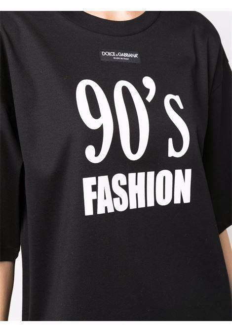 T-shirt nera DOLCE & GABBANA | F8O49THU7H8HN3FT
