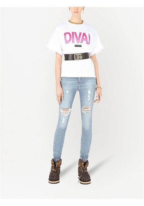 T-shirt bianca DOLCE & GABBANA | F8O50ZHU7H8S9002
