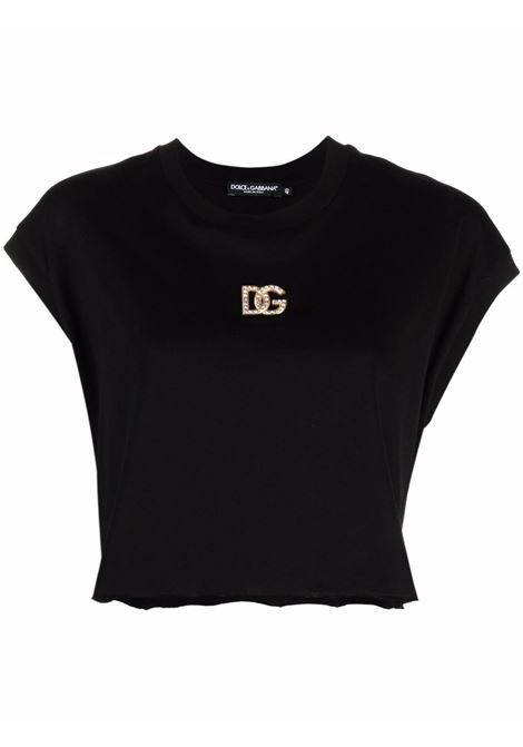 T-shirt nera DOLCE & GABBANA | F8O53ZG7BFDN0000