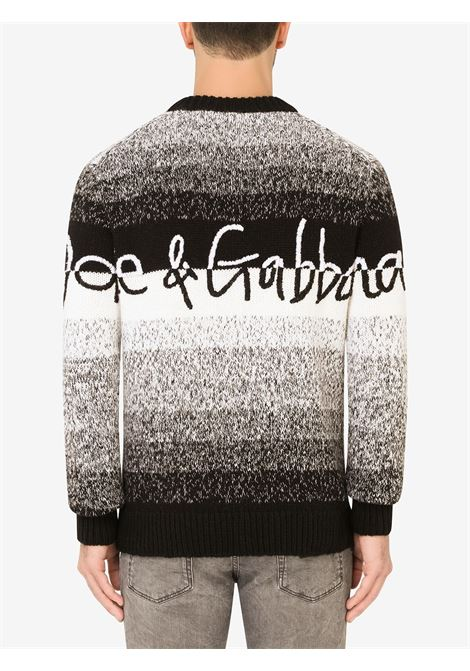 Black/white jumper DOLCE & GABBANA | GX525ZJCMA9S9000