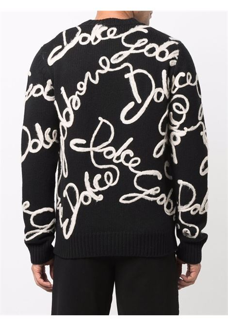 Maglione nero/bianco DOLCE & GABBANA | MAGLIONE | GXE94ZJAW9EN0000