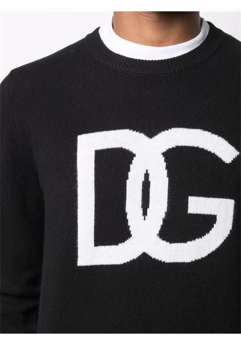 Maglione nero DOLCE & GABBANA | MAGLIONE | GXG73TJAW9KS9000