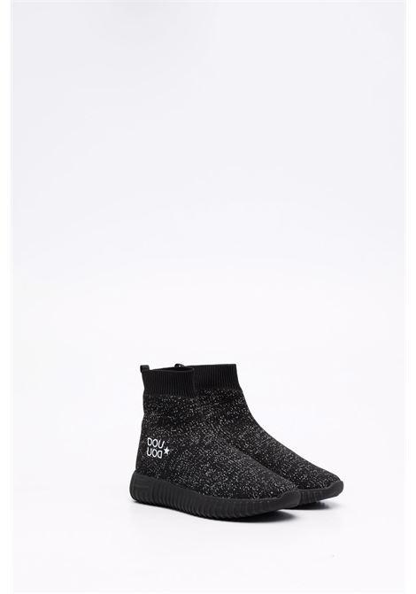 Sneakers nero/argento DOUUOD | 13SOCK104NEROARGENTO
