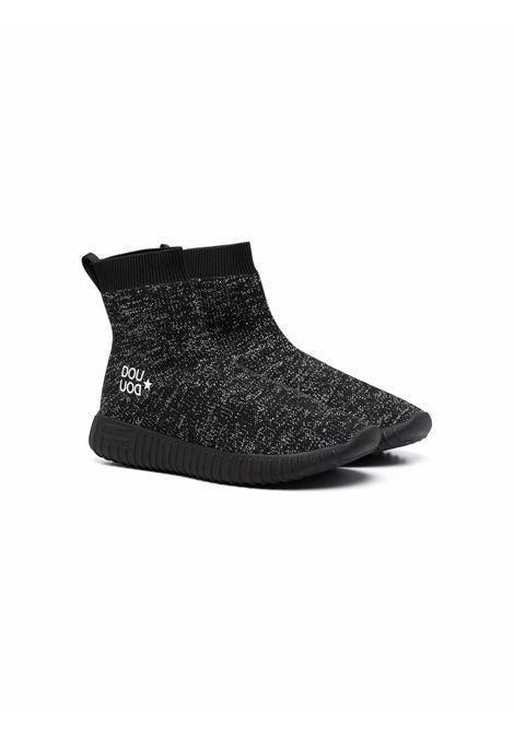 Sneakers nero/argento DOUUOD | 13SOCK104TNEROARGENTO