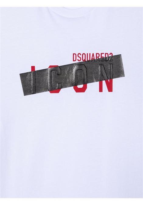 T-shirt bianca DSQUARED ICON KIDS   DQ0588D00MQTDQ100