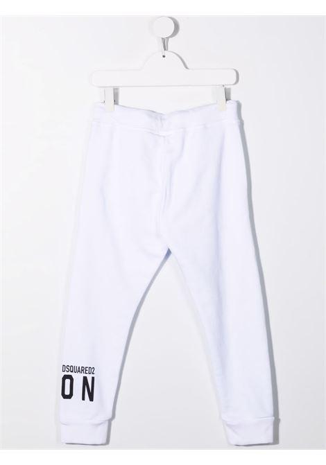 Pantalone bianco DSQUARED ICON KIDS   DQ0634D002YDQ100