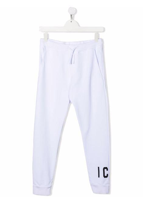 Pantalone bianco DSQUARED ICON KIDS   DQ0634D002YTDQ100