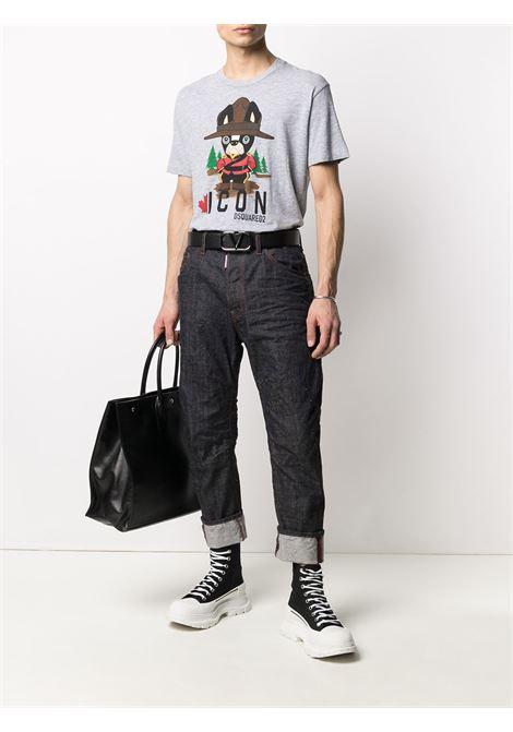 Grey t-shirt DSQUARED ICON | T-SHIRT | S79GC0034S22146857M