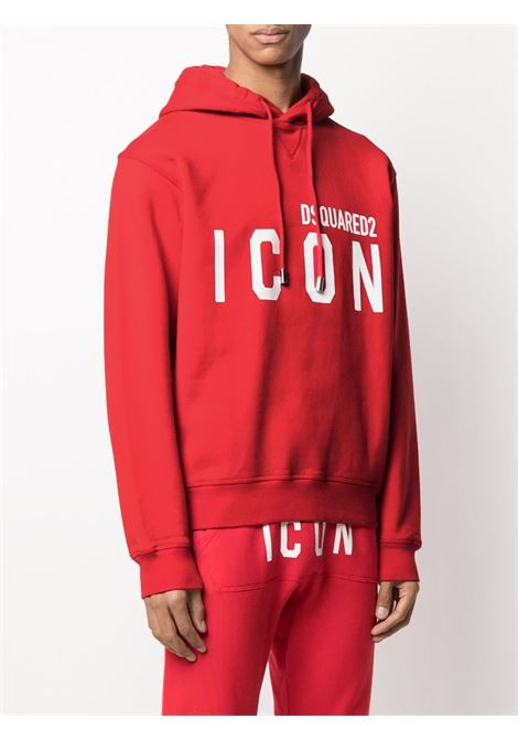 Red sweatshirt DSQUARED ICON | SWEATSHIRTS | S79GU0003S25042312