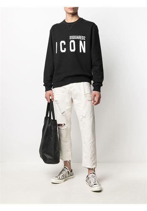 Black sweatshirt DSQUARED ICON | SWEATSHIRTS | S79GU0004S25042968