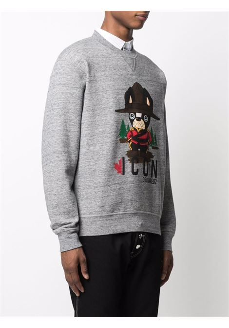 Grey sweatshirt DSQUARED ICON | SWEATSHIRTS | S79GU0047S25477860M