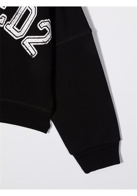 Black sweatshirt DSQUARED KIDS | SWEATSHIRTS | DQ0433D008FDQ900