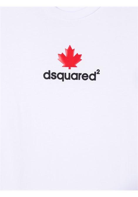 T-shirt bianca DSQUARED KIDS | T-SHIRT | DQ0515D00MQTDQ100