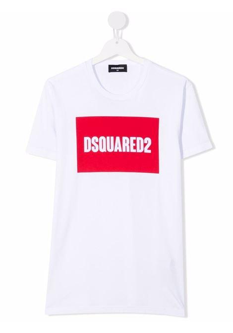 T-shirt bianca DSQUARED KIDS | T-SHIRT | DQ0522D002FTDQ100