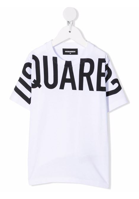 T-shirt bianco/nero DSQUARED KIDS | T-SHIRT | DQ0526D002FDQ100