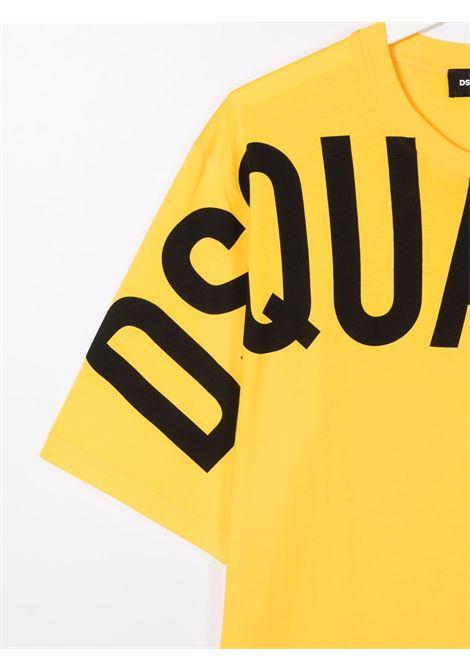 T-shirt giallo/nero DSQUARED KIDS | T-SHIRT | DQ0526D002FTDQ201