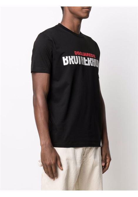 Black t-shirt DSQUARED | T-SHIRT | S74GD0856S23009900