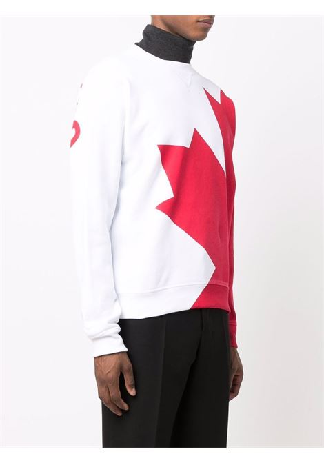 White/red sweatshirt DSQUARED | SWEATSHIRTS | S74GU0517S25042100