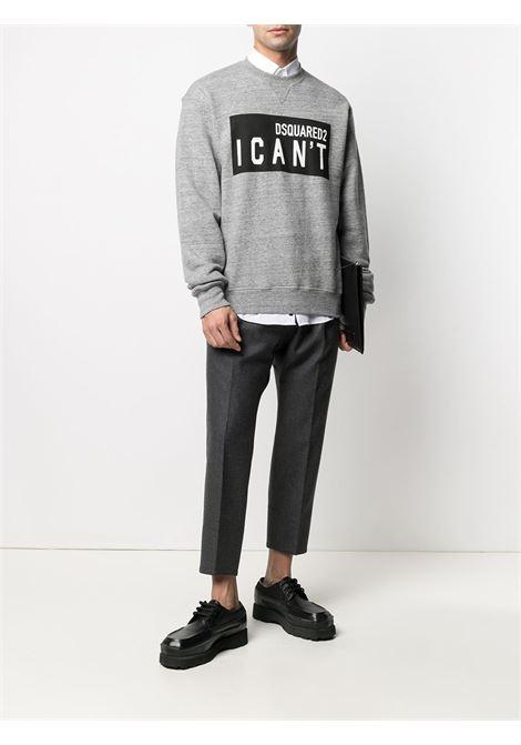 Grey sweatshirt DSQUARED | SWEATSHIRTS | S74GU0529S25463860M