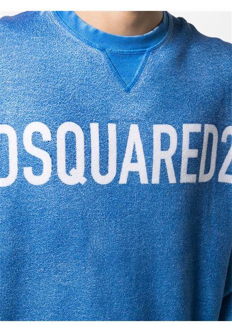 Blue sweatshirt DSQUARED | SWEATSHIRTS | S74GU0538S25042478