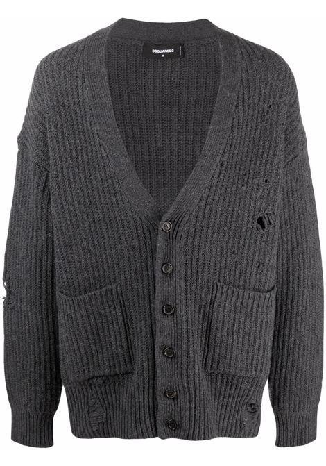 Grey cardigan DSQUARED | CARDIGAN | S74HA1174S17407859M
