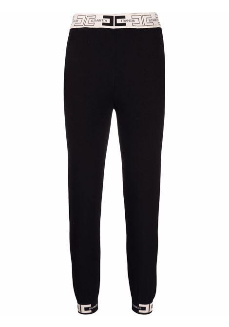Black track pants ELISABETTA FRANCHI | KP20S16E2685