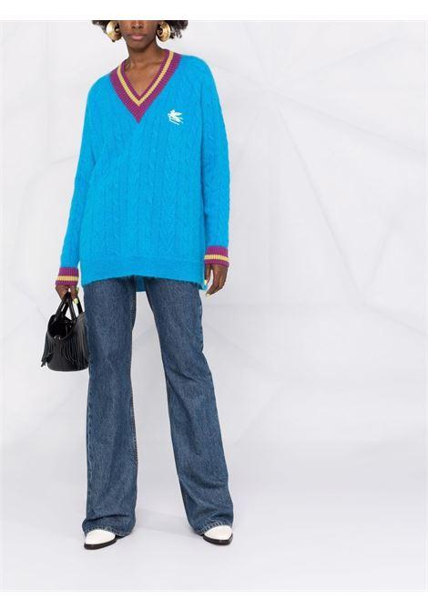 Blue/Brown jumper ETRO | SWEATER | 187369213250
